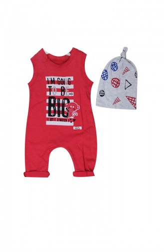 2 Pcs Im Gong Printed Overalls WG8268-03 Red 8268-03