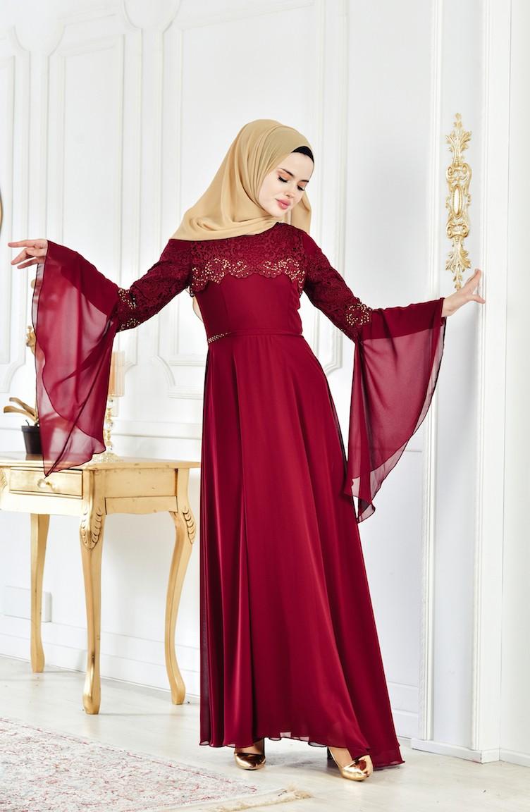 235b069df04 Claret red Dress 52695-03