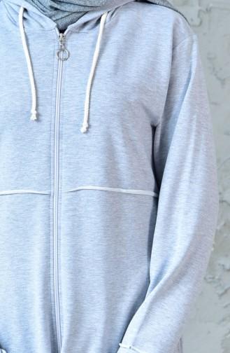 Zippered Sports Cap 18088-03 Gray 18088-03