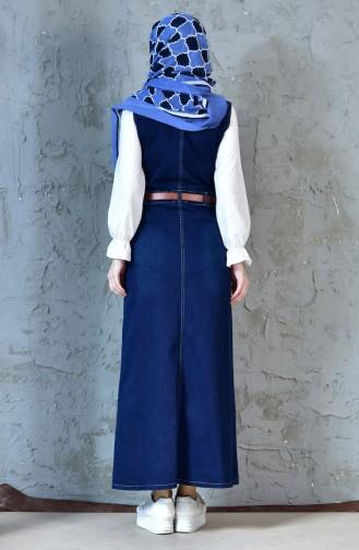 Robe Hijab Bleu Marine 0929-03