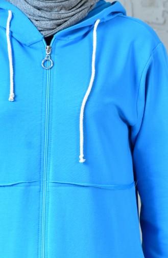 Zippered Sports Cap 18088-05 Blue 18088-05