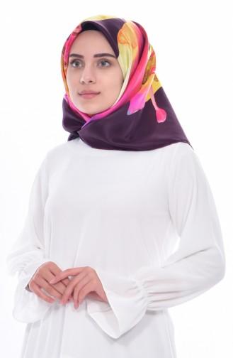 Sarar Silk Scarf 1103-01 Damson 1103-01