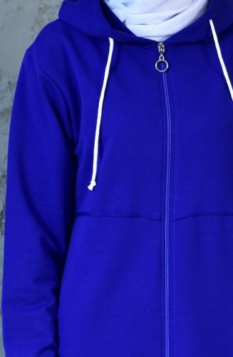 كاب رياضي بتصميم سحاب 18088-09 لون ازرق 18088-09