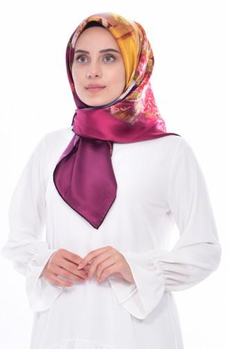 Sarar İpek Eşarp 1100-02 Siyah Koyu Sarı 1100-02