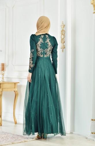 Abendkleid mit Pailetten 1510-02 Smaragdgrün 1510-02
