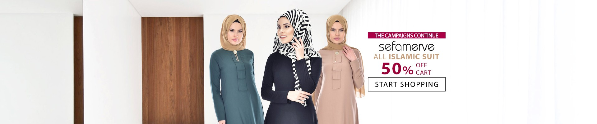 50% Off Cart on ALL ISLAMIC SUITS