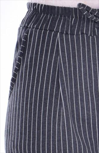Cepli Striped Pantolon 1335-06 Coal 1335-06
