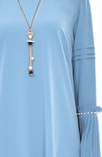 Übergöße Asymmetrische Tunika mit Perlen 1645-03 Mandel Grün 1645-03