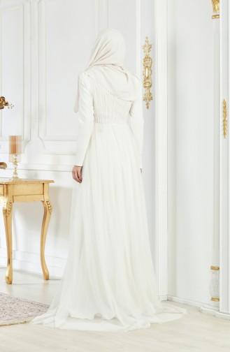 Abendkleid mit Pailetten 1770A-01 Naturfarbe 1770A-01