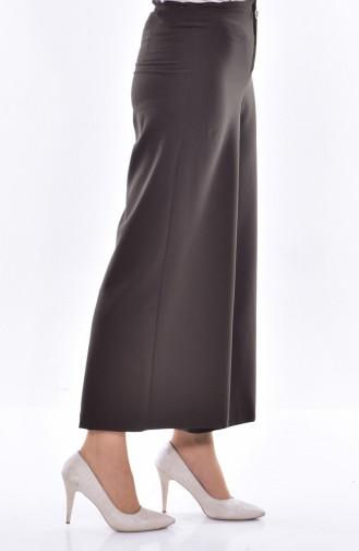 Wide leg Trousers 31235-05 Khaki Green 31235-05