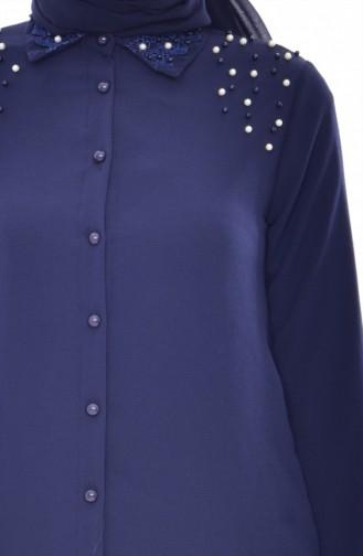 Navy Blue Blouse 4070-03