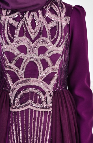 Damson Islamic Clothing Evening Dress 1770-01