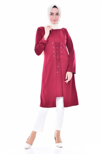 lace-up Team Looking Tunic2000-02 Bordeaux 2000-02