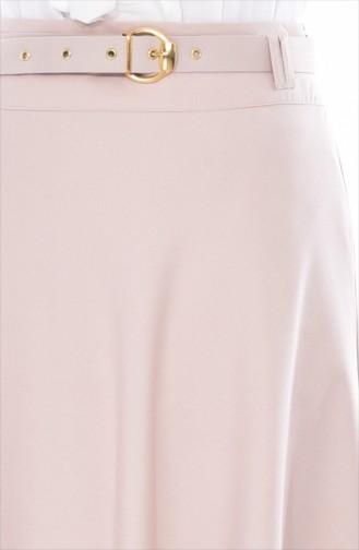Belted Flared Skirt 0508-04 Beige 0508-04