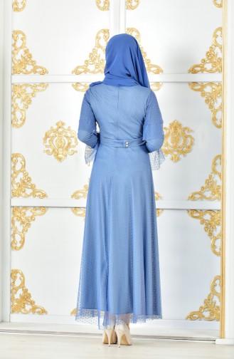 Kleid mit Tüll 8190-04 İndigo 8190-04