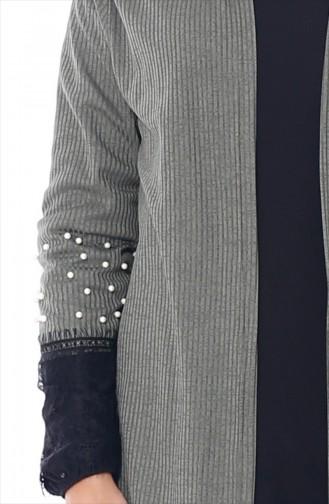 Lace Pearl Cardigan 0797-05 Khaki 0797-05