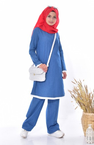 Tunic Trousers Double Suit 4405-02 Blue Jeans 4405-02