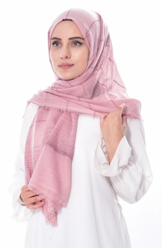 Silvery Striped Shawl 19040-01Light Dried Rose 01