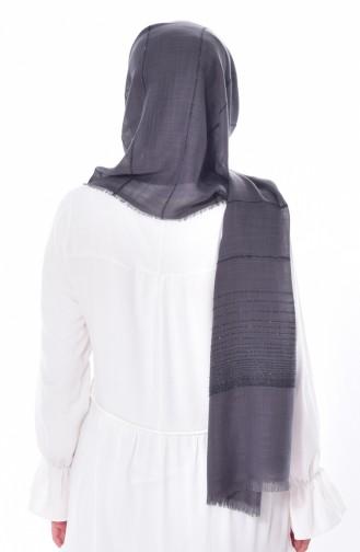 Silvery Striped Shawl 19040-03 Smoked 03