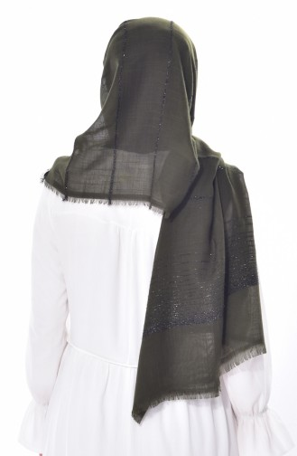 Schal mit Glitzer 19040-08 Khaki 08