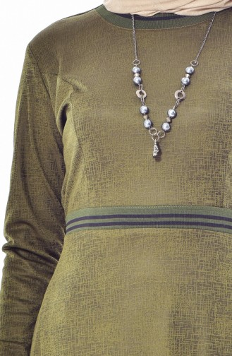 Robe avec Collier 1865-01 Khaki 1865-01