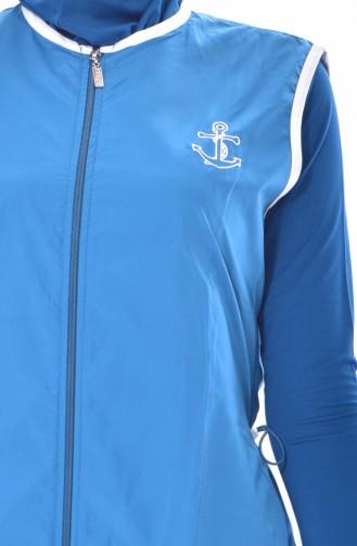 ملابس سباحة نسائية 1275-03 لون بترولي 1275-03