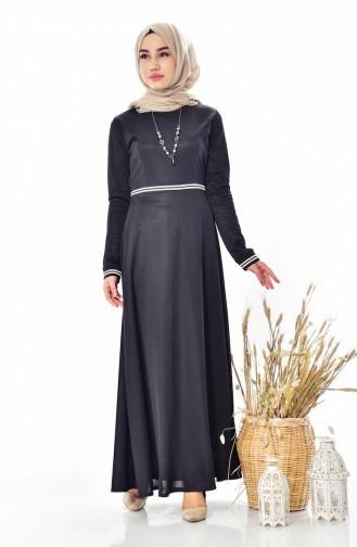 Kleid mit Halskette 1865-03 Schwarz 1865-03