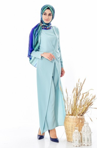 Pocketed Jumpsuit 1972-04 Almond Green 1972-04