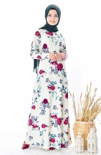 White Dress 4124A-08