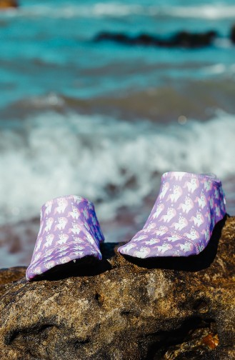 Lilac Pool And Beach Shoes 1000-09