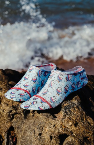 Pool And Beach Shoes أزرق 1000-10