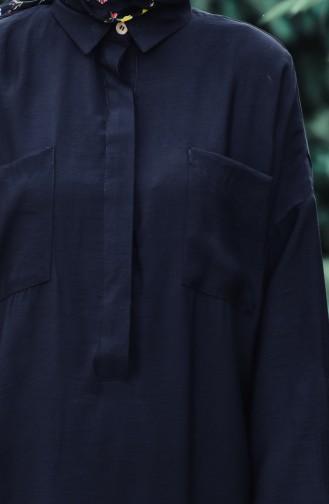Gizli Düğmeli Tunik 1238-05 Siyah