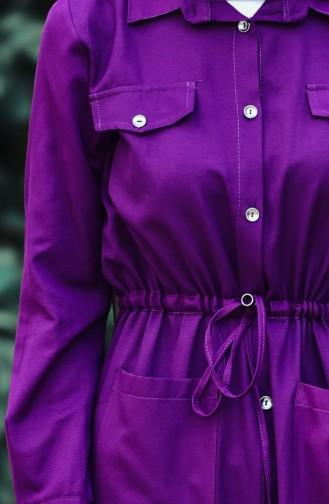 Button Long Tunic 1164-09 Plum 1164-11