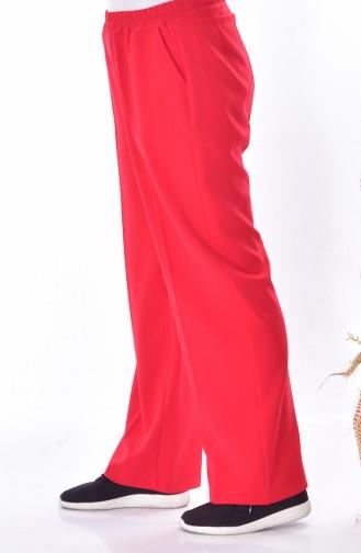 Übergröße Hose mit Gummi 3103-09 Rot 3103-09