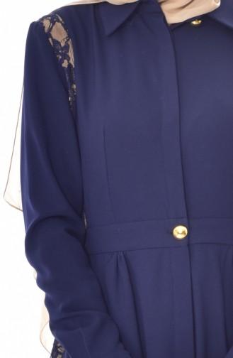 Navy Blue Abaya 28416-03