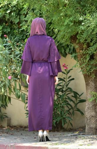Perlen Kleid mit Spanischärmeln 1001-01 Lila 1001-01