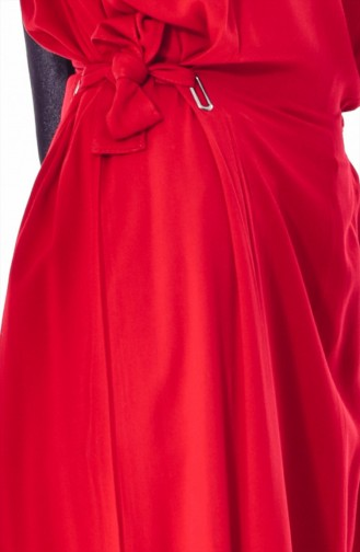 ايلميك فستان بتصميم رباط على الجانب 5181-06 لون خمري 5181-06