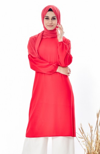 Pearl Sleeve Tunic 20730-01 Red 20730-01