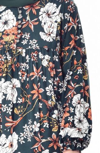 فستان بتصميم مورّد 4005B-02 لون اخضر داكن 4005B-02