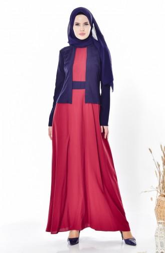 Setaussehendes Kleid 5739-07 Dunkelblau 5739-07