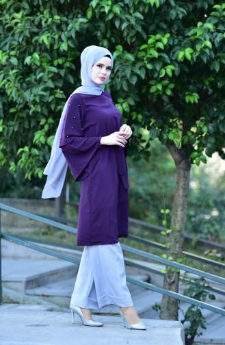 Perlen Kleid mit Spanischärmeln 2001-04 Lila 2001-04
