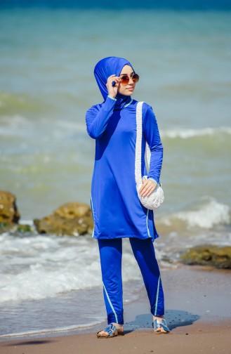 ملابس للسباحة نسائية 1840-02 لون ازرق 1840-02