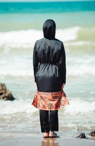 Printed Swimsuit 1876-03 Black 1876-03