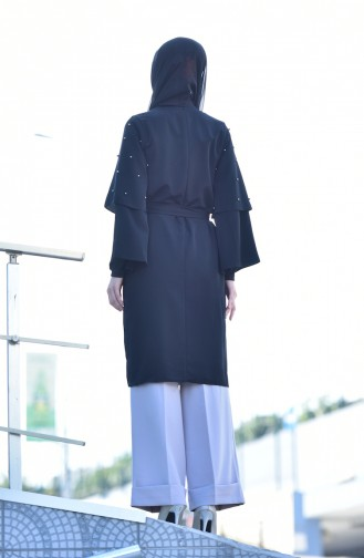 Perlen Kleid mit Spanischärmeln 2001-02 Schwarz 2001-02