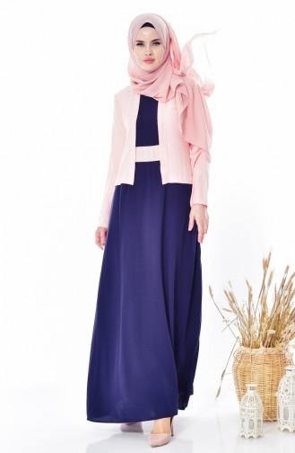 Takım Görünümlü Elbise 5739-05 Somon 5739-05