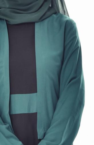 Takım Görünümlü Elbise 5739-02 Zümrüt Yeşili 5739-02