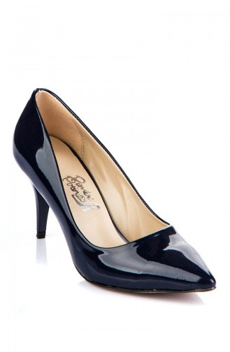 Navy Blue Heeled Shoes 11905-17-03