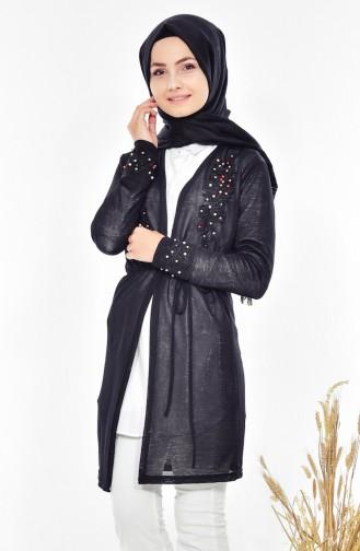 Lace Pearl Cardigan 0706-03 Black 0706-03