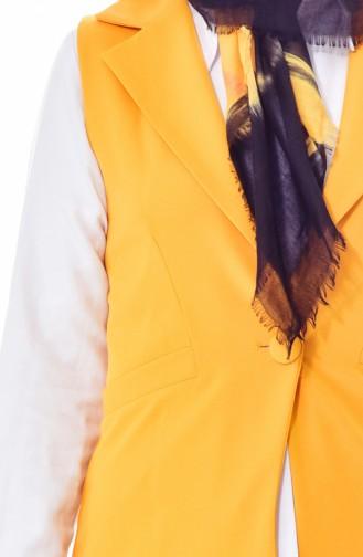 Weste mit Taschen Detail 70110-10 Gelb 70110-10