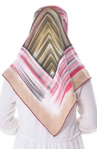 Gestreifte Kopftuch aus Kunstseide BNJLEABlO-01 Weinrot Rot 01